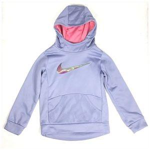 Nike Dri Fit Therma Hoodie Girls Purple Swoosh NWT